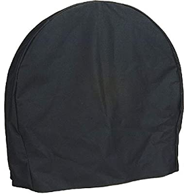 Sunnydaze Firewood Log Hoop Cover Only - Heavy-Duty Outdoor Waterproof and Weather-Resistant Cover - Durable Polyester with PVC Backing - 40-Inch, Black