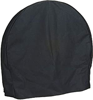 Sunnydaze Firewood Log Hoop Cover ONLY, Heavy-Duty Outdoor Waterproof and Weather-Resistant, 40-Inch, Black