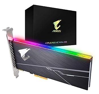 GIGABYTE AORUS RGB Nvme Add-in-Card 1TB High Performance Gaming Integrated Heatsink Toshiba 3D NAND DDR Cache Buffer 5 Year Warranty SSD GP-ASACNE2100TTTDR