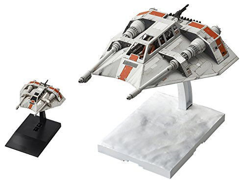 Bandai Star Wars SNOWSPEEDER 1/48 and 1/144 Scale Model Kit Set