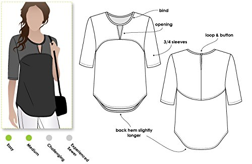 Style Arc Sewing Pattern - Dixie Woven Top (Sizes 18-30) - Click for Other Sizes Available