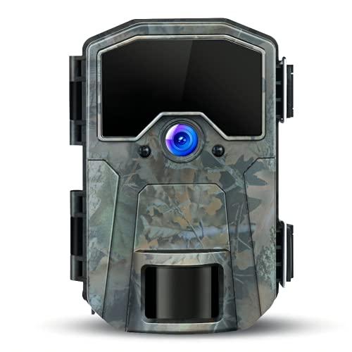 Fototrappola 20MP 1080P Camera da Caccia, macchina fotografica di caccia di rilevazione notturna con nessun bagliore 940nm IR LED, Time Lapse, Timer, IP66 Waterproof Desig per la natura all'aperto