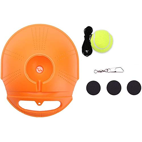 Directtyteam Tennis Trainer Rebound Ball - Tennis Trainer Equipment Trainer Basis - Zelfstudie Opleiding Tool Training Gear voor Kids Player Beginner (Orange, Tennis Training Tool)