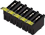 Duck Inks - Cartucho de Tinta refabricado para Usar en Lugar de Epson T1306, Workforce WF-3620 WF-3620DWF WF-3640DTWF WF-3640TDWF WF-7110DTW WF-7110TW WF-7210DTW WF-7610DWF WF-7620DTWF, Pack de 5