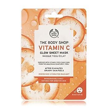 The Body Shop Vitamin C Glow Sheet Face Mask 0.6 Fl Oz Vegan