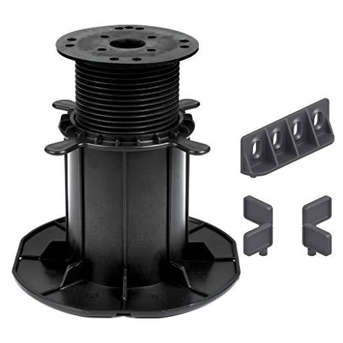 16 Stück Trevendo® Universal Stelzlager & Plattenlager XXL 120-220 mm für Holz, WPC und Stein