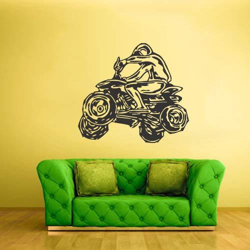 ATV Quad Wall Decal 4x4 Wheeler Off Road Muursticker Decor Kids Slaapkamer Art Decoraties Man Cave Jongens Gift Garage z2235 Eenvoudig aan te brengen en verwijderbaar