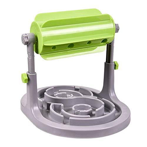 VCB Dispensador de golosinas Interactivo para Perros, Gato, alimentador Lento, dispensador Ajustable - Verde
