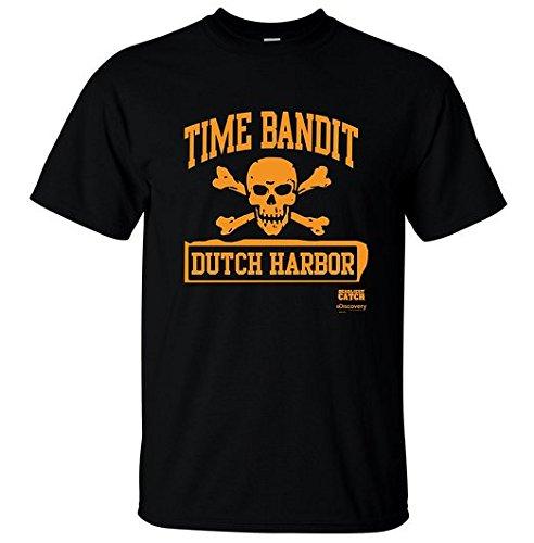 メンズ時間山賊公式ベーリング海のキャッチTシャツ (M, BLACK 黒) [並行輸入品]