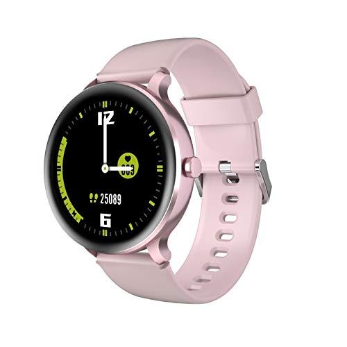 Smart Watch TPU Strap, Impermeable 5atm, 9 uno del Modo Sport, el Reloj D00 y X2 Pantalla TFT de 1.3 Pulgadas 2.5D Reloj de Vidrio Curvado (Color : Pink)