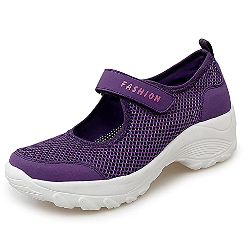 Sandalias para Mujer Malla Merceditas Plataforma Ligero Zapatillas Sneaker Mary