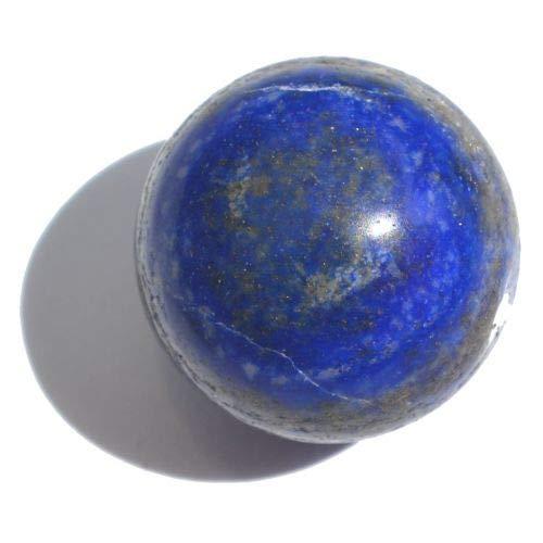 Lapislazuli Kugel 25 mm   Blaue Edelstein-Massage Kugel   Heilstein Lapis Lazuli Stein zur Dekoration und Sammel-Objekt   Therapie-Steinkugel