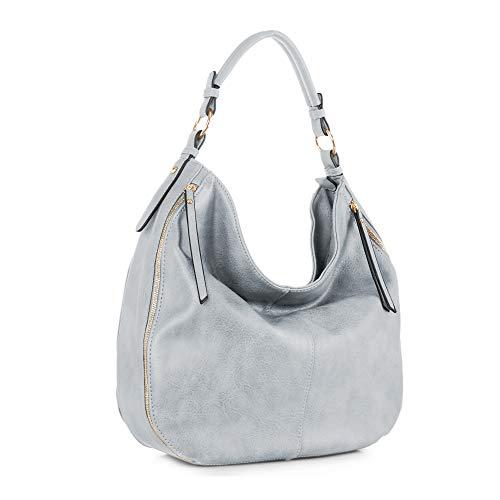 SG SUGU Hobo Shoulder Bags for Women Tote Handbags Fashion Large Capacity Ladies   Blue