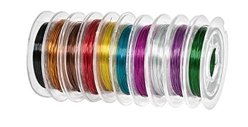 10 rouleaux fil alu déco, 10 couleurs de 10 m, Gros acheteurs VBS