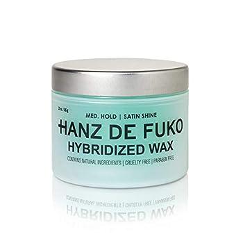 Hanz de Fuko Hybridized Wax- Premium Men's Hair Styling Wax with Satin Finish  2oz  Cruelty Free