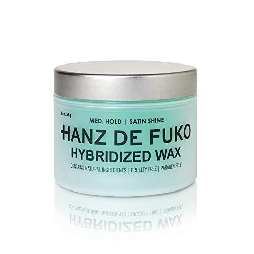 Hanz de Fuko Hybridized Wax- Premium Men's Hair Styling Wax with Satin Finish (2oz) Cruelty Free