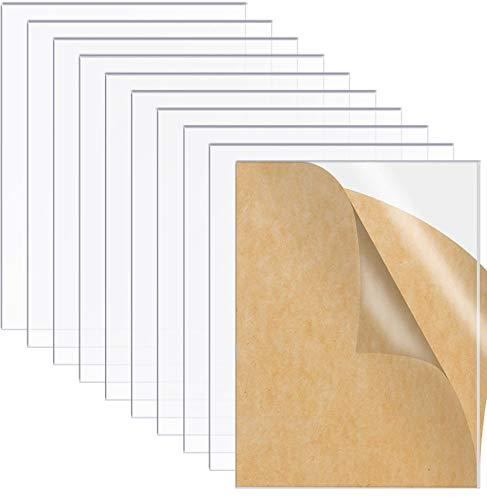 10 hojas de acrílico transparente de plexiglás de 2 mm, panel cuadrado transparente para marco de fotos, letreros de repuesto de cristal de 150 x 100 mm