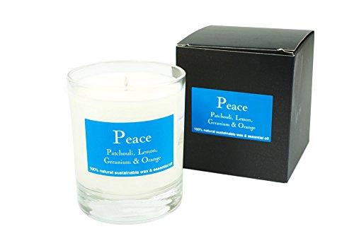 Tranquillité – Patchouli, Citron, Gernaium et orange parfumée Bougie votive
