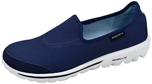 Skechers Performance Women's Go Walk Slip-On Walking Shoe, Navy/White, 7.5 M US