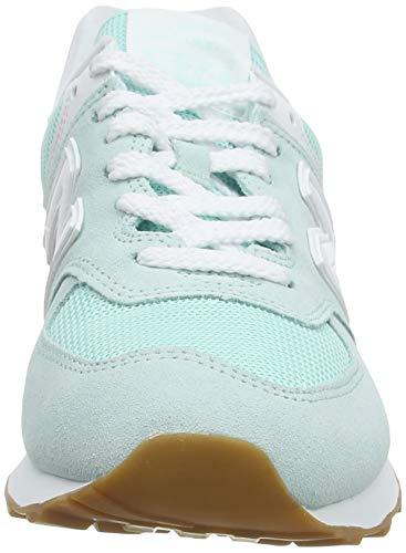 New Balance 574 Pastel Pack, Zapatillas Mujer, White Mint, 38 EU