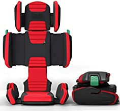 hifold fit-and-fold highback booster Seat, Racing Red – Adjustable Highback Booster Car Seat for Everyday, Carpooling and More – Foldable Booster Seat for Travel