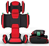 hifold fit-and-fold highback booster Seat, Racing Red – Adjustable Highback Booster Car Seat for Everyday,...