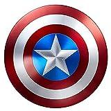 Escudo Capitan America Metal 1: 1 Adulto Apoyos de Película Niños Hierro Forjado CapitáN AméRica Shield Vengadores Disfraz de Metal Shield 47cm