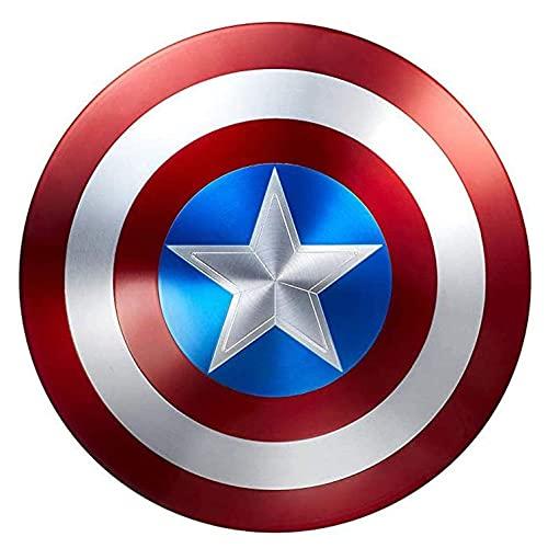Costume America Scudo 1: 1 Capitan America all Metal, Captain America, Avengers Marvel Prop Giocattolo Replica Serie Legends,Adulto Taglia Unica 47cm
