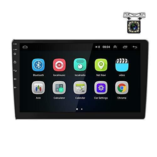 Podofo Radio 2 DIN Android 2 + 16G 9  Pantalla táctil Navegación GPS con Bluetooth WiFi Radio FM Enlace de Espejo USB Dual, Soporte de Control del Volante y Cámara de visión Trasera