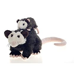 "10"" Plush Opossum Mama Possum with Baby Plush Stuffed Animal Toy by Fiesta Toys"