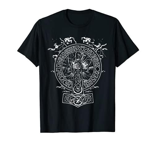 VIKINGS RISE - HAMMER OF THOR - Norse Mythology T-Shirt Gift