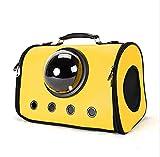 Haustierbett ZHUXINYU Pet Supplies Haustier Nest Tragbare Zwinger Zusammenklappbar Haustier Tasche Aus Rucksack Reise Tragetasche 7.29 (Color : Bright Yellow)