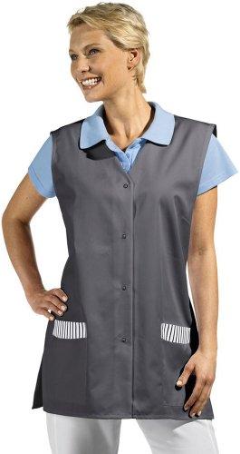 LEIBER Westenkasack - Damen-Kasack - ohne Arm - mit Druckknöpfen - grau - Größe: XL