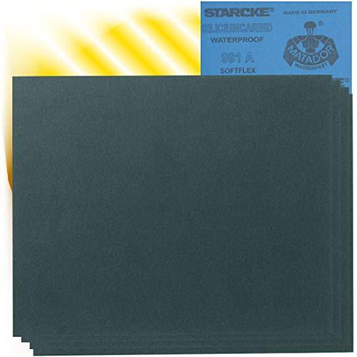 Starcke 10 x Matador Wasserschleifpapier Nass Schleifpapier P800 - P3000 im Set
