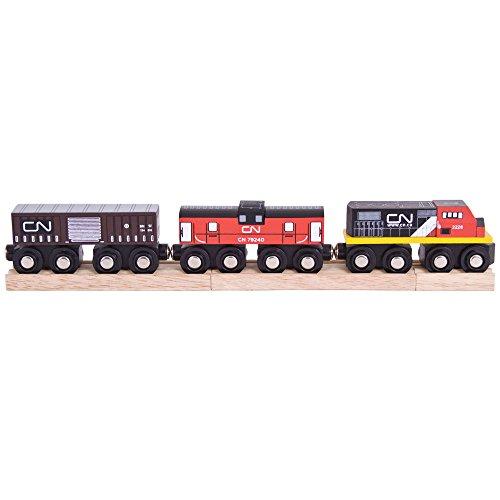 Bigjigs Rail Train Canadien National | Train en Bois | Circuit Train Bois | Jouet Enfant | Jouet Éducatif | Cadeau Enfant | Jouet en Bois | Compatible avec Autre Marques de Train en Bois