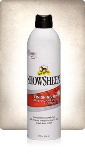 ABSORBINE15 온스 SHOWSHEEN 마무리 안개 말 개 라마 소 더 헤어 폴란드어 및 DETANGLER 영양 코트