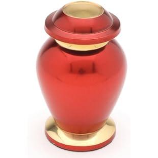 """Urns UK Cremation Memorial Keepsake Urn Reading, Ruby 3"""" Keepsake:Iracematravel"""