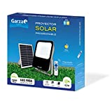 Garza ® Proyector Solar Led, 60W con Mando a Distancia, Programable y Regulable, Cable 4,7m
