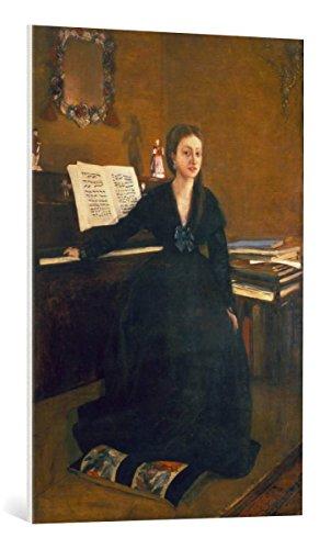 Kunst für Alle Cuadro en Lienzo: Edgar Degas Madame Camus Am Piano - Impresión artística, Lienzo en Bastidor, 65x95 cm
