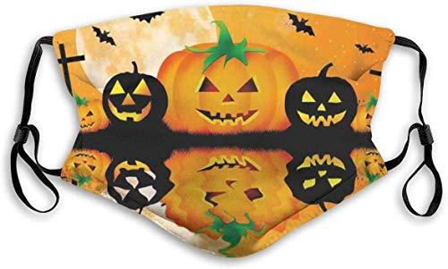 Farol de calabaza para Halloween, filtro de polvo reutilizable lavable y reutilizable, pasamontaas de algodn clido, resistente al viento