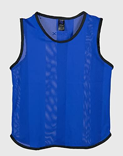 Ronex Sports Petos de Entrenamiento para fútbol - Adultos - Pack de x10 (Azul, Junior)