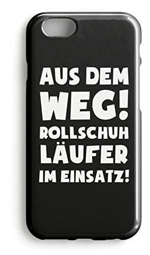shirt-o-magic Handyhülle Rollschuhe: Rollschuhläufer im Einsatz! - Case -iPhone 7-Schwarz