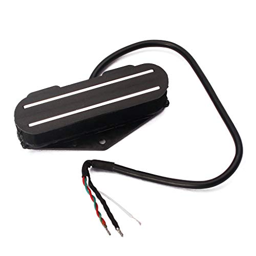 Alnicov Dual Hot Rail Humbucker Pickup Single Coil Pickup para guitarra eléctrica TL Strat Squier Tele, color negro