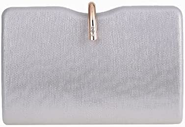 JINGXU Women's Clutch Bag Hard Box Small Square Bag Evening Bag Shoulder Messenger Party Bag