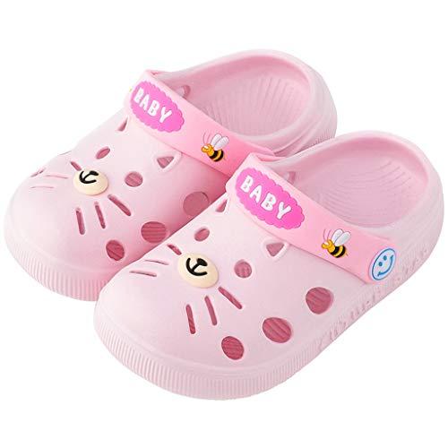 Nyuiuo Niño Bebé Niño Bebé Niños Niña Niños Zapatillas De Casa Zapatos De Piso De Gato De Dibujos Animados Sandalias De Flores Antideslizantes para Niños Zapatos Caseros Zapatos De Playa Sandalias