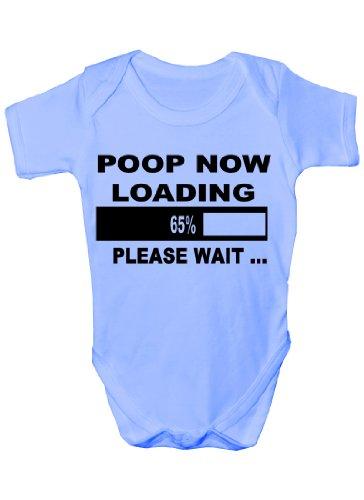 """Lustiger Strampler mit der Aufschrift """"Poop Loading"""", für Jungen/Mädchen Gr. 3-6 Monate, blau"""