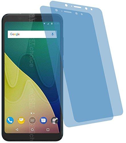 4ProTec I 2X Crystal Clear klar Schutzfolie für Wiko View XL Bildschirmschutzfolie Displayschutzfolie Schutzhülle Bildschirmschutz Bildschirmfolie Folie