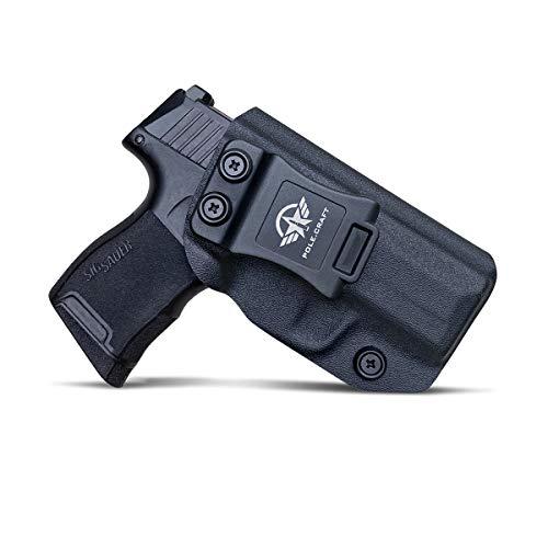 POLE.CRAFT IWB Tactical KYDEX Pistolenholster for Sig Sauer P365 Pistolenhalfter Hängend Verdeckte Versteckte Pistole Case Waffenholster (Black, Right Hand Draw (IWB))