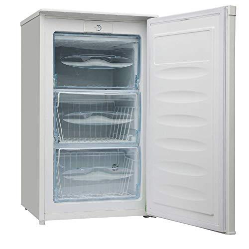 HISENSE FV85D4BW1 Congelatore Sottotavolo Monoporta con 3 cassetti. Colore Bianco e classe di efficienza energetica A+. Altezza 83,9 cm e capacità net