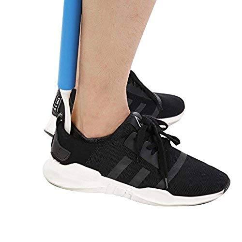Anziehhilfe mit Schuhlöffel, langer Griff, hilft Kleidung und Schuh zu tragen